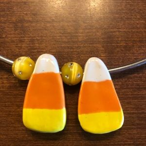 Jewelry - Ceramic Candy Corn Pendants for Necklace